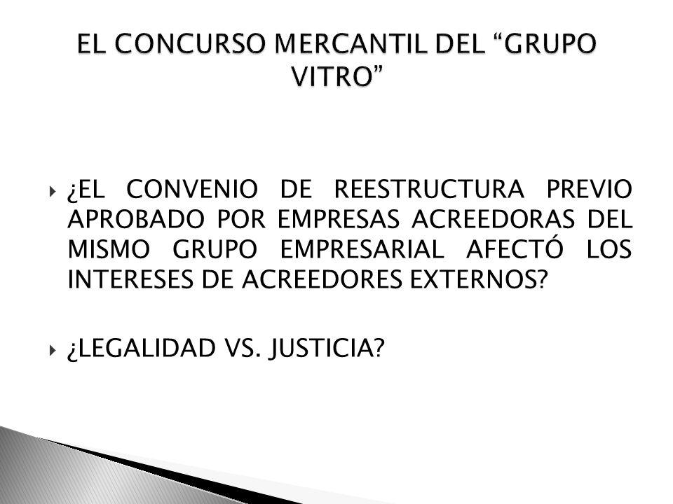 EL CONCURSO MERCANTIL DEL GRUPO VITRO