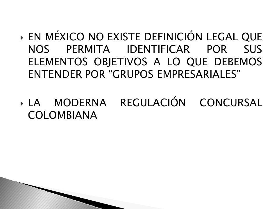 EN MÉXICO NO EXISTE DEFINICIÓN LEGAL QUE NOS PERMITA IDENTIFICAR POR SUS ELEMENTOS OBJETIVOS A LO QUE DEBEMOS ENTENDER POR GRUPOS EMPRESARIALES
