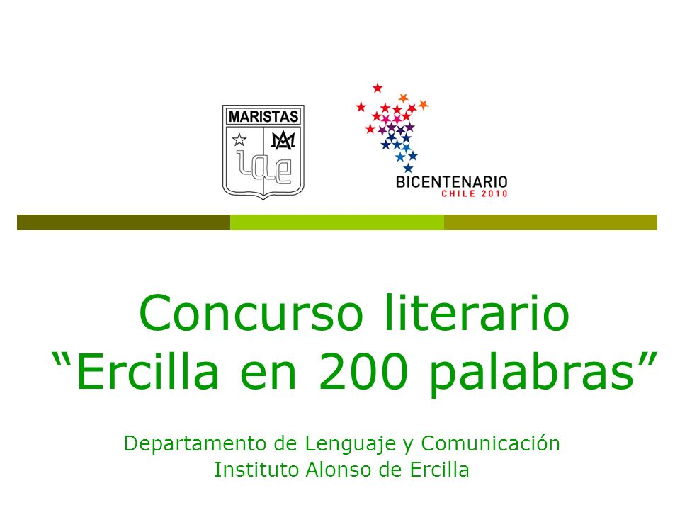 Concurso literario Ercilla en 200 palabras