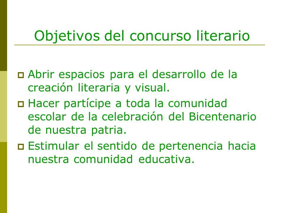 Objetivos del concurso literario