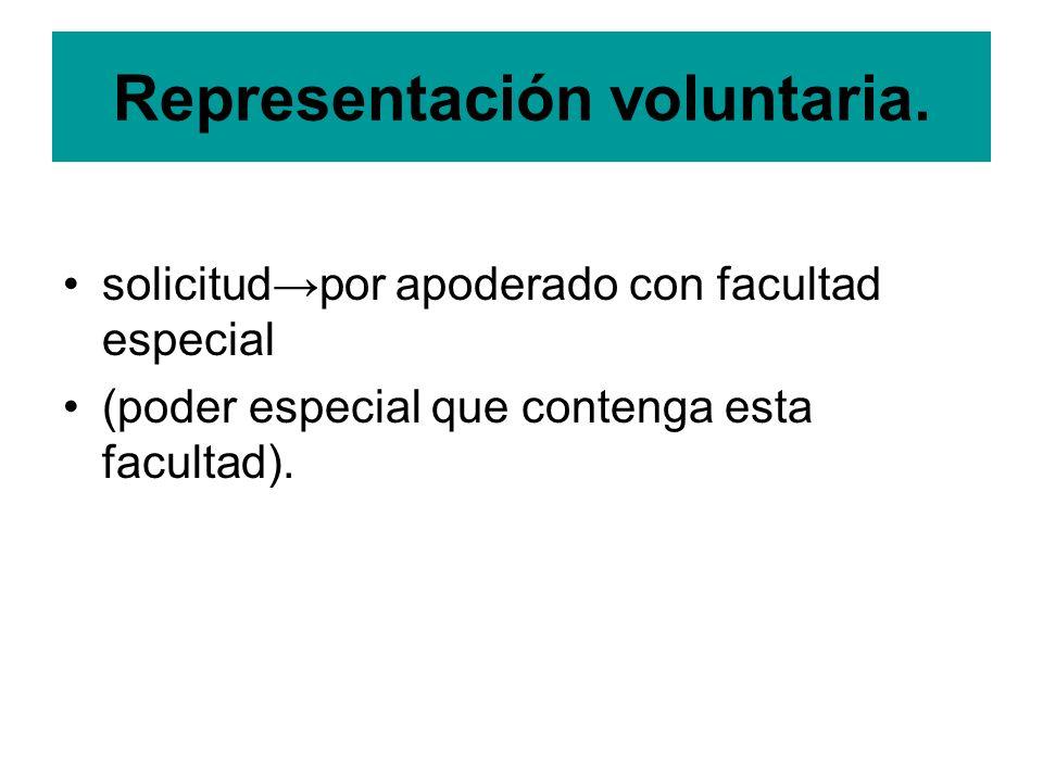 Representación voluntaria.