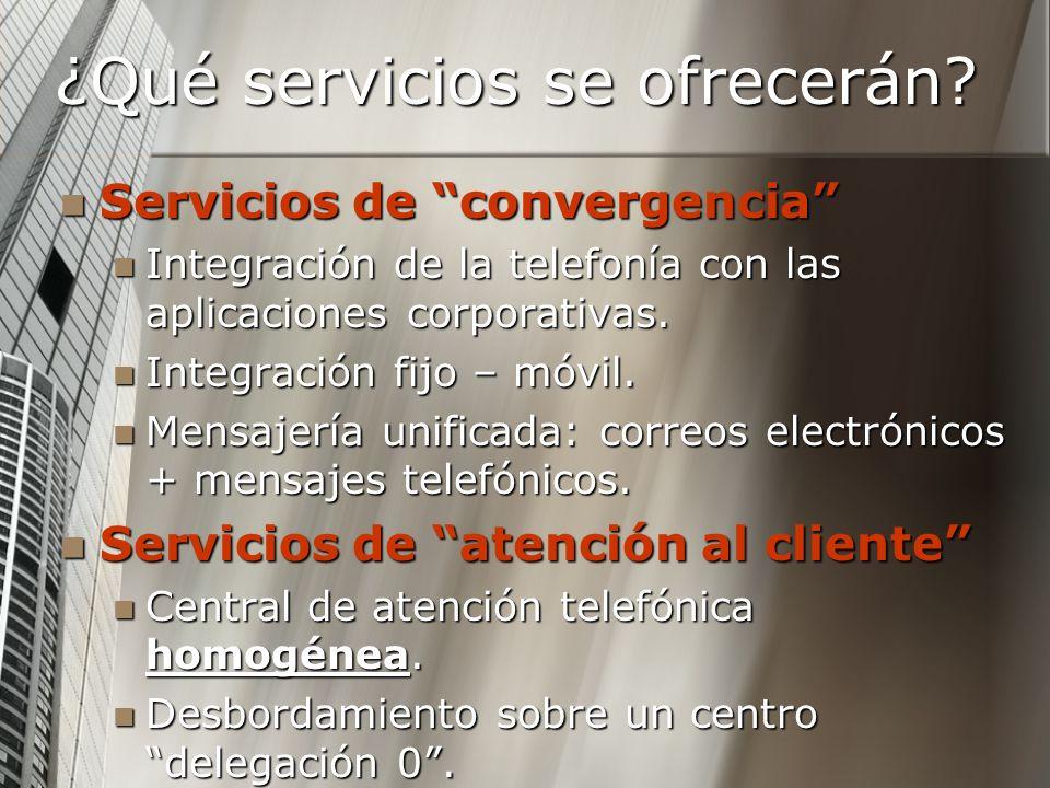 ¿Qué servicios se ofrecerán