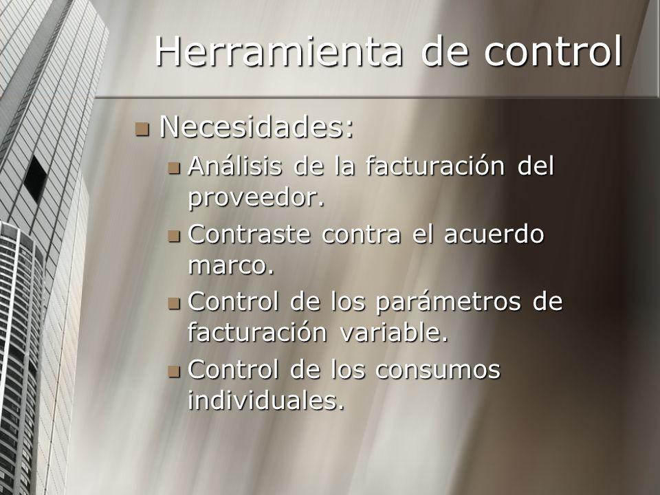 Herramienta de control