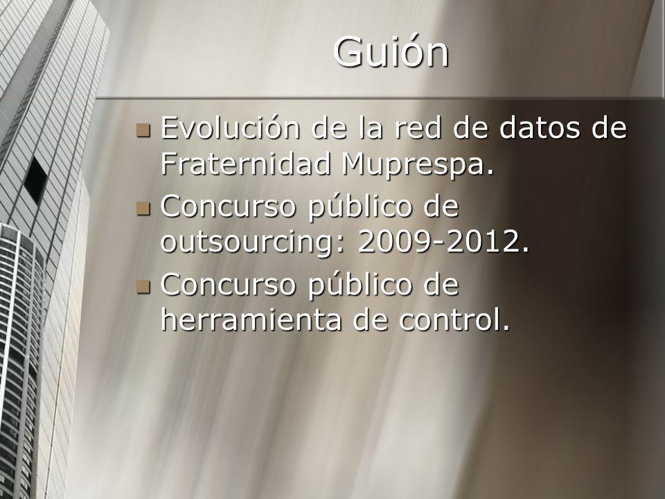 Guión Evolución de la red de datos de Fraternidad Muprespa.