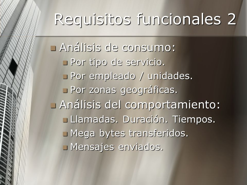 Requisitos funcionales 2