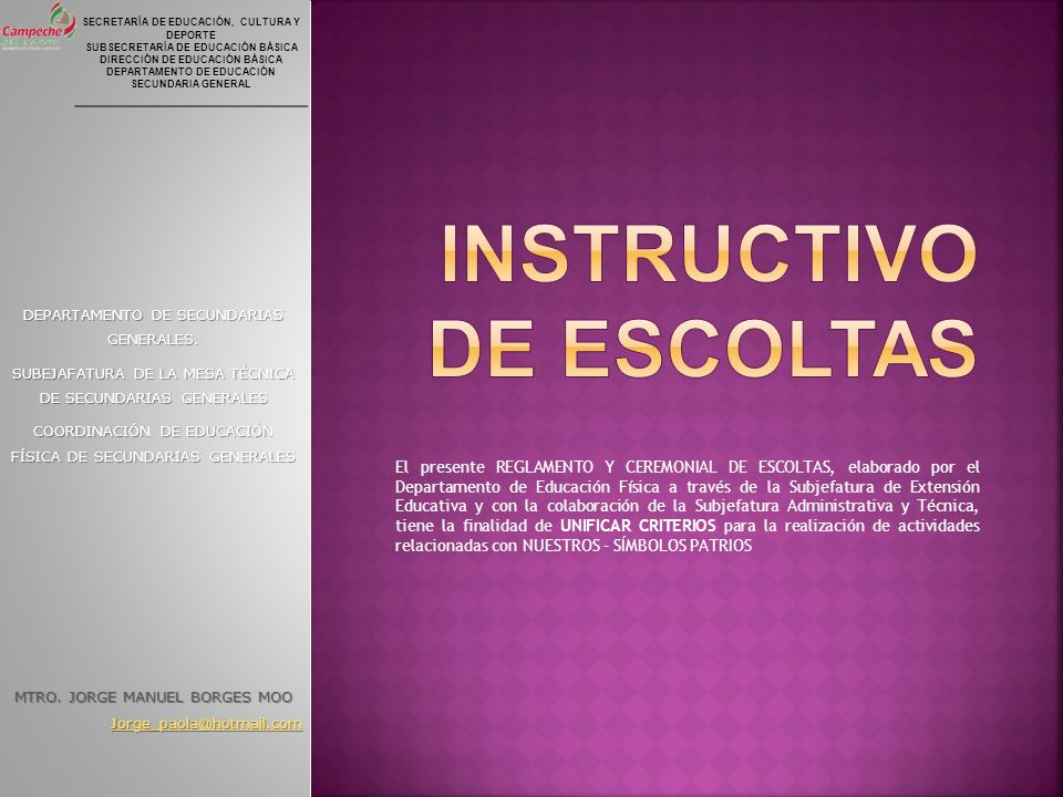 Instructivo de escoltas