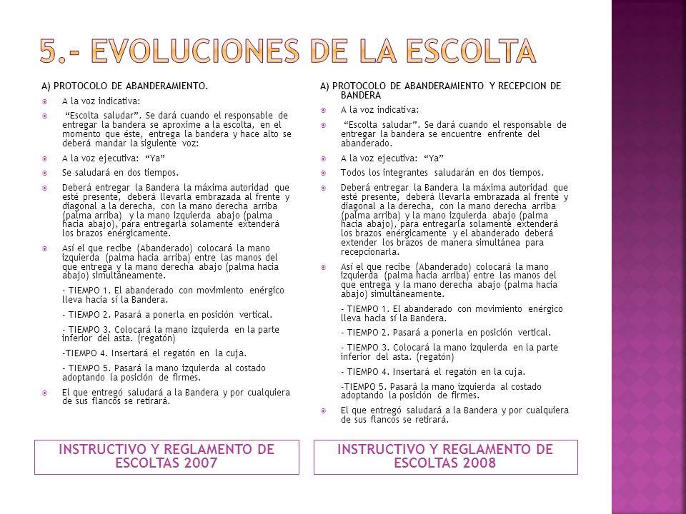 5.- EVOLUCIONES DE LA ESCOLTA