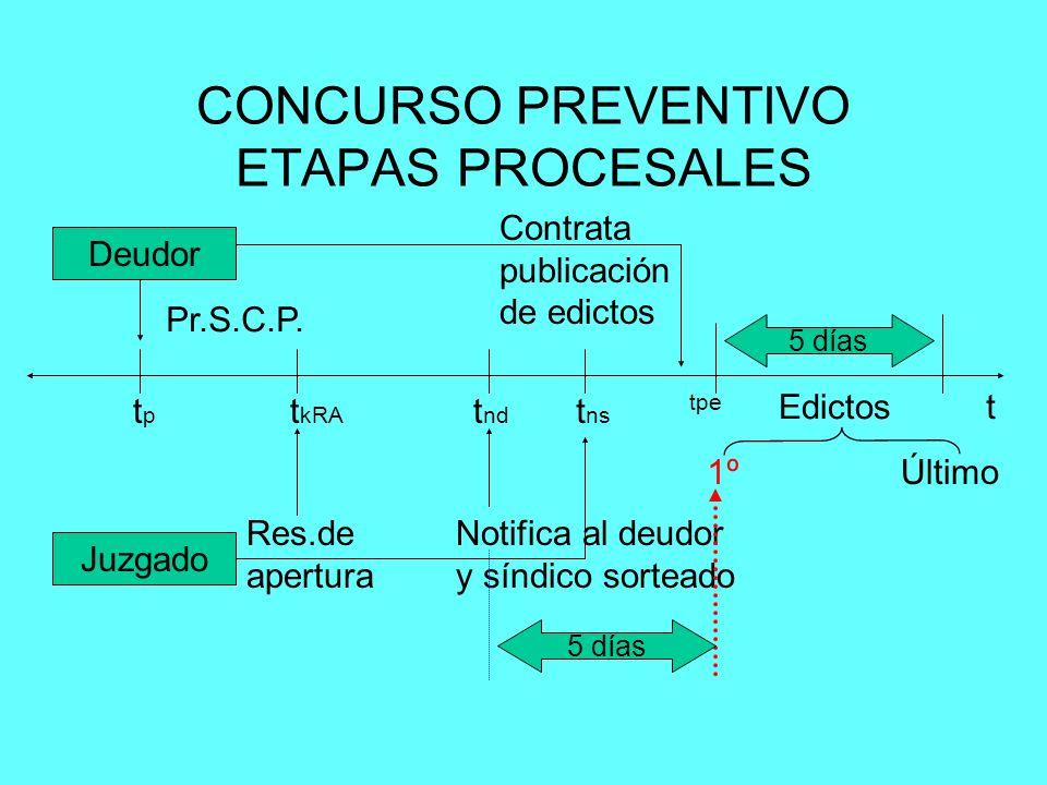 CONCURSO PREVENTIVO ETAPAS PROCESALES