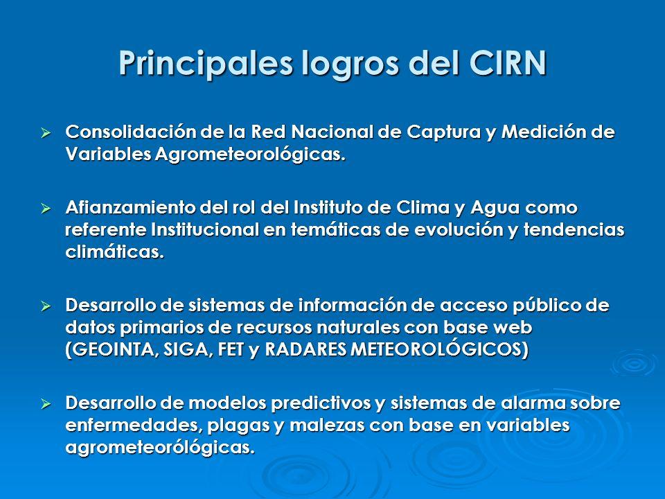 Principales logros del CIRN