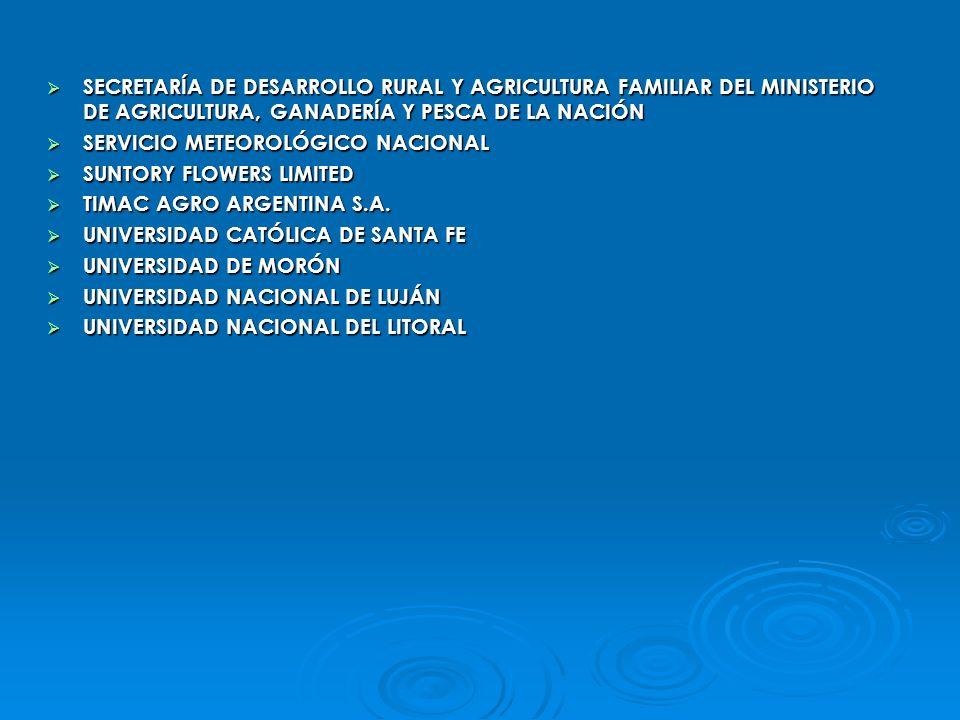 SECRETARÍA DE DESARROLLO RURAL Y AGRICULTURA FAMILIAR DEL MINISTERIO DE AGRICULTURA, GANADERÍA Y PESCA DE LA NACIÓN