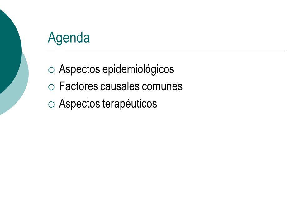 Agenda Aspectos epidemiológicos Factores causales comunes