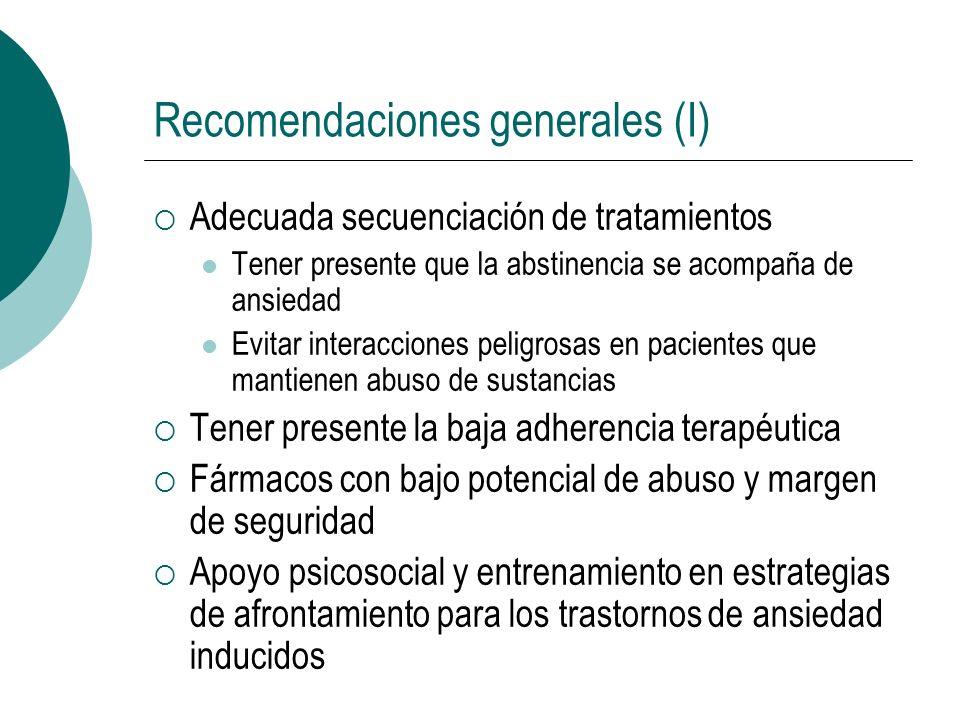 Recomendaciones generales (I)