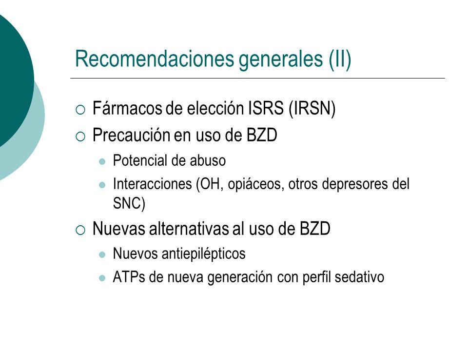 Recomendaciones generales (II)
