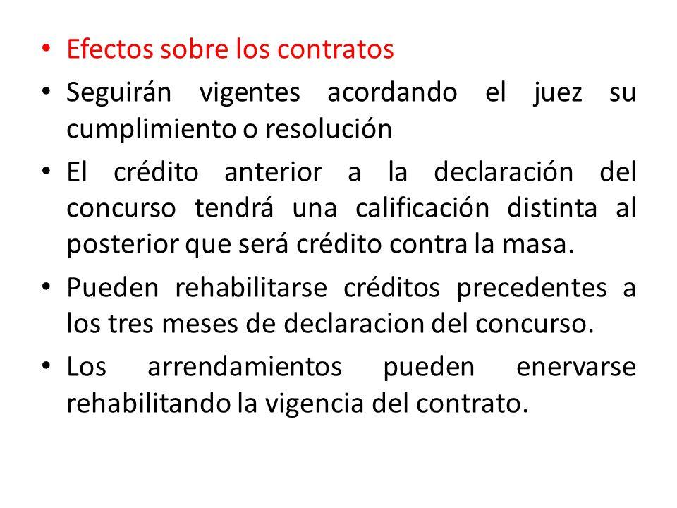 Efectos sobre los contratos