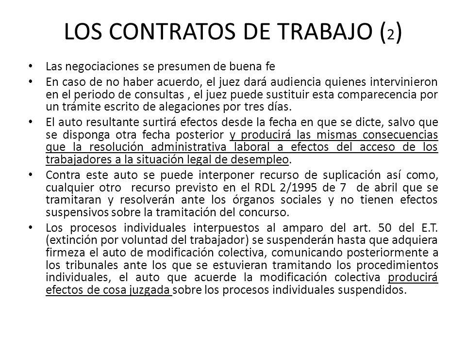LOS CONTRATOS DE TRABAJO (2)
