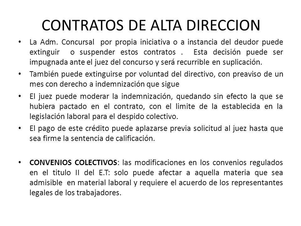 CONTRATOS DE ALTA DIRECCION