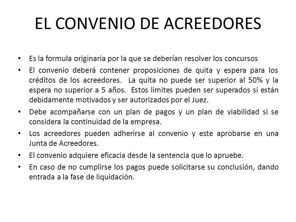 EL CONVENIO DE ACREEDORES