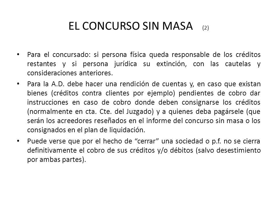 EL CONCURSO SIN MASA (2)