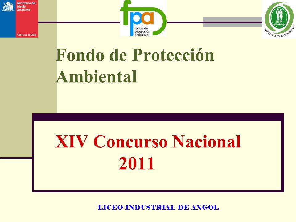 Fondo de Protección Ambiental XIV Concurso Nacional 2011
