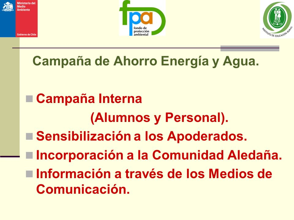 Campaña de Ahorro Energía y Agua.