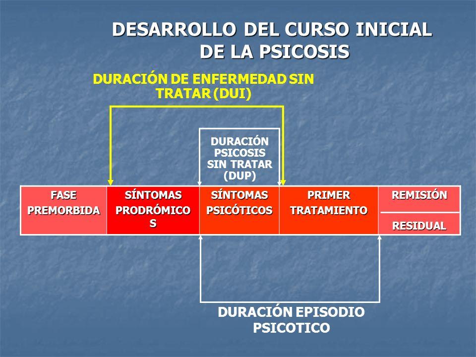 DESARROLLO DEL CURSO INICIAL DE LA PSICOSIS