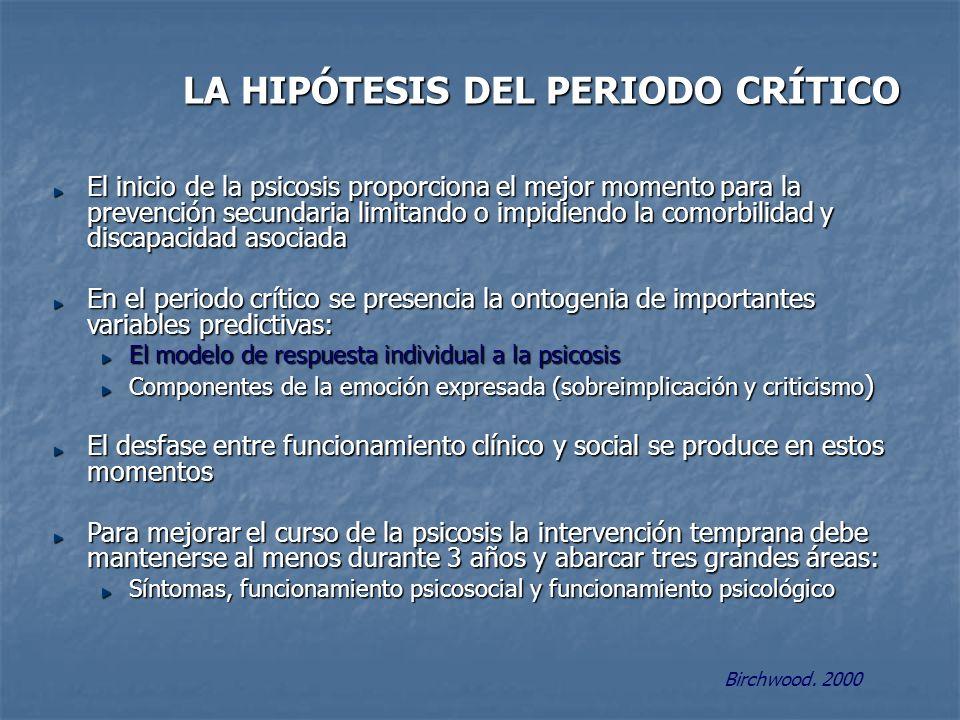 LA HIPÓTESIS DEL PERIODO CRÍTICO