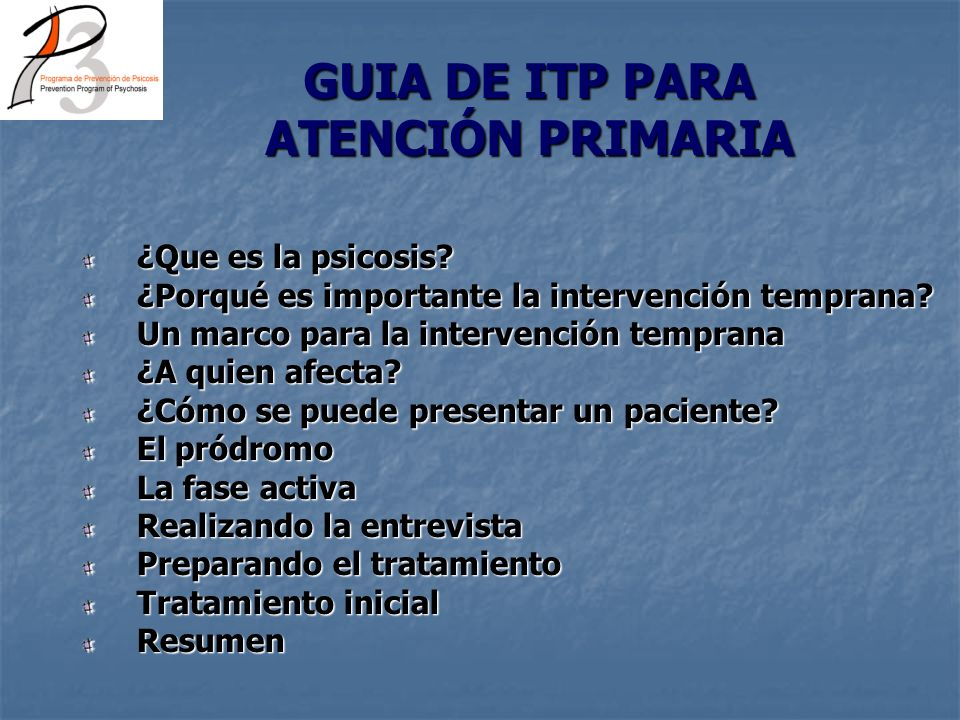 GUIA DE ITP PARA ATENCIÓN PRIMARIA