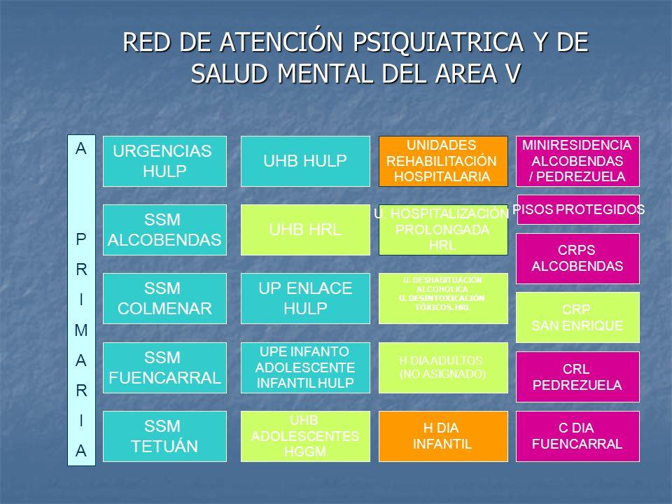 RED DE ATENCIÓN PSIQUIATRICA Y DE SALUD MENTAL DEL AREA V