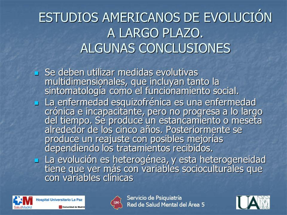 ESTUDIOS AMERICANOS DE EVOLUCIÓN A LARGO PLAZO. ALGUNAS CONCLUSIONES
