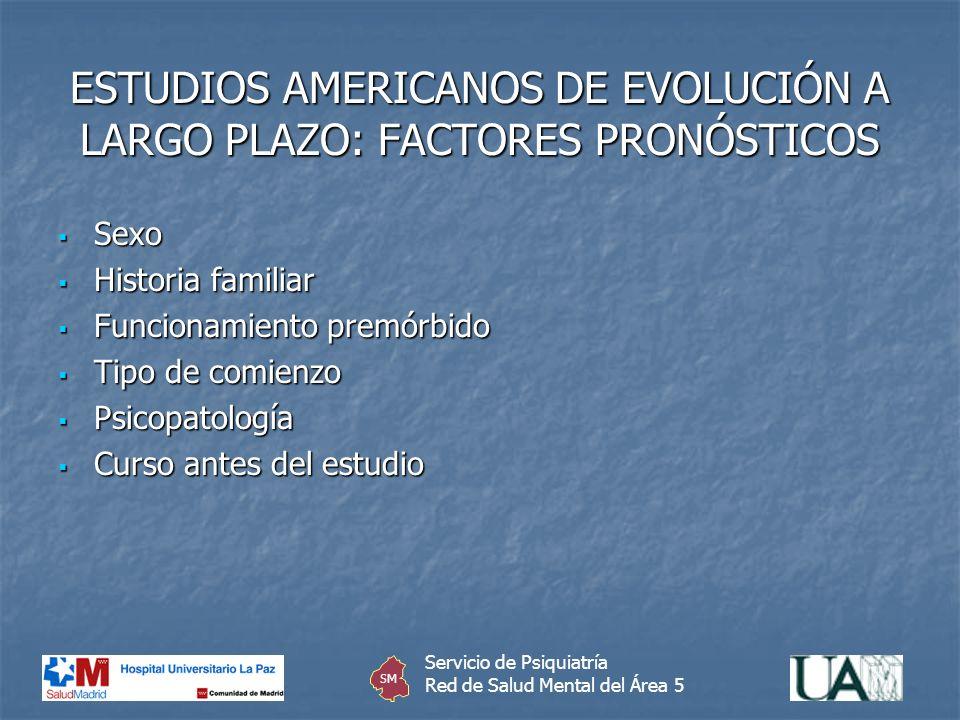 ESTUDIOS AMERICANOS DE EVOLUCIÓN A LARGO PLAZO: FACTORES PRONÓSTICOS