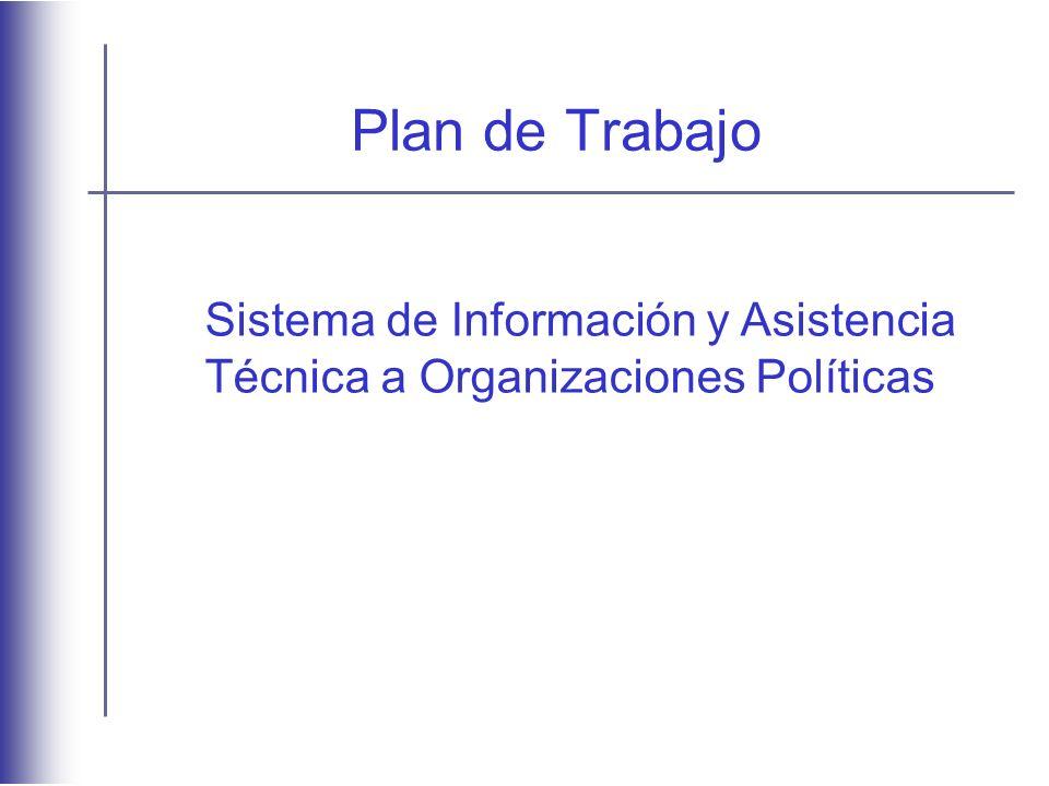 Plan de Trabajo Sistema de Información y Asistencia