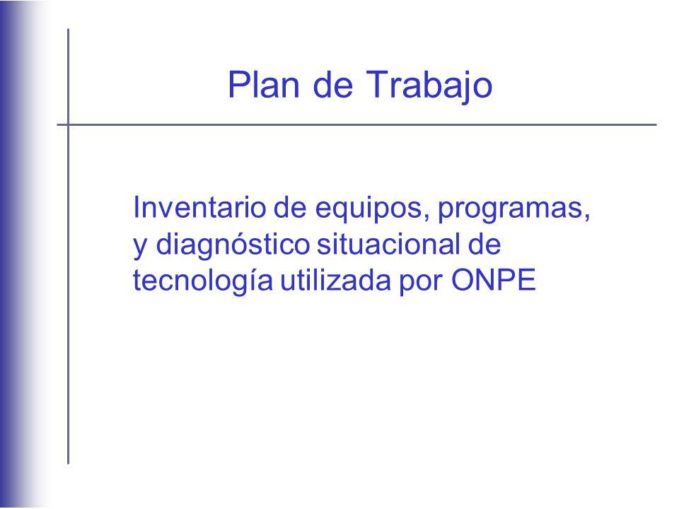 Plan de Trabajo Inventario de equipos, programas,