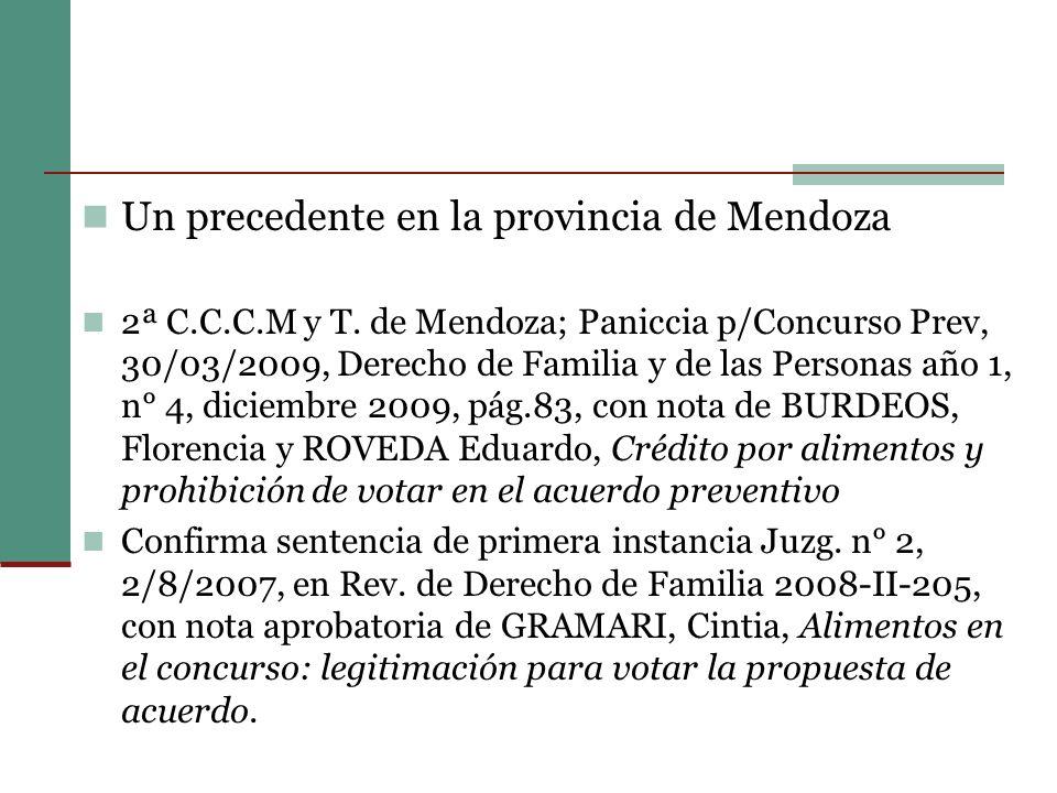 Un precedente en la provincia de Mendoza