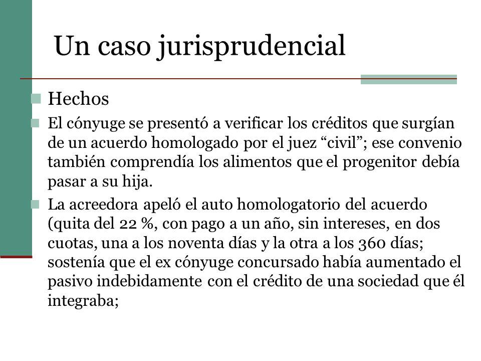 Un caso jurisprudencial