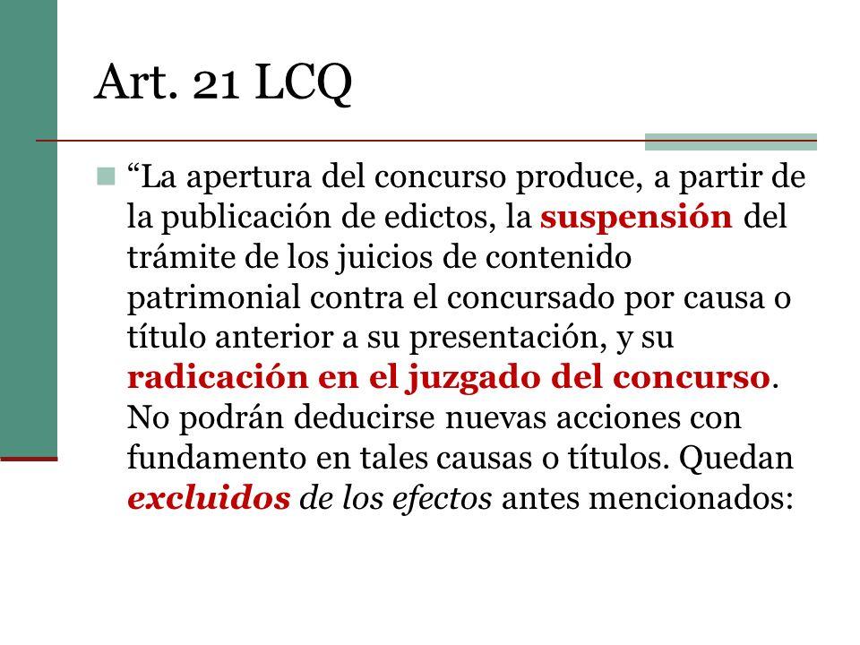 Art. 21 LCQ