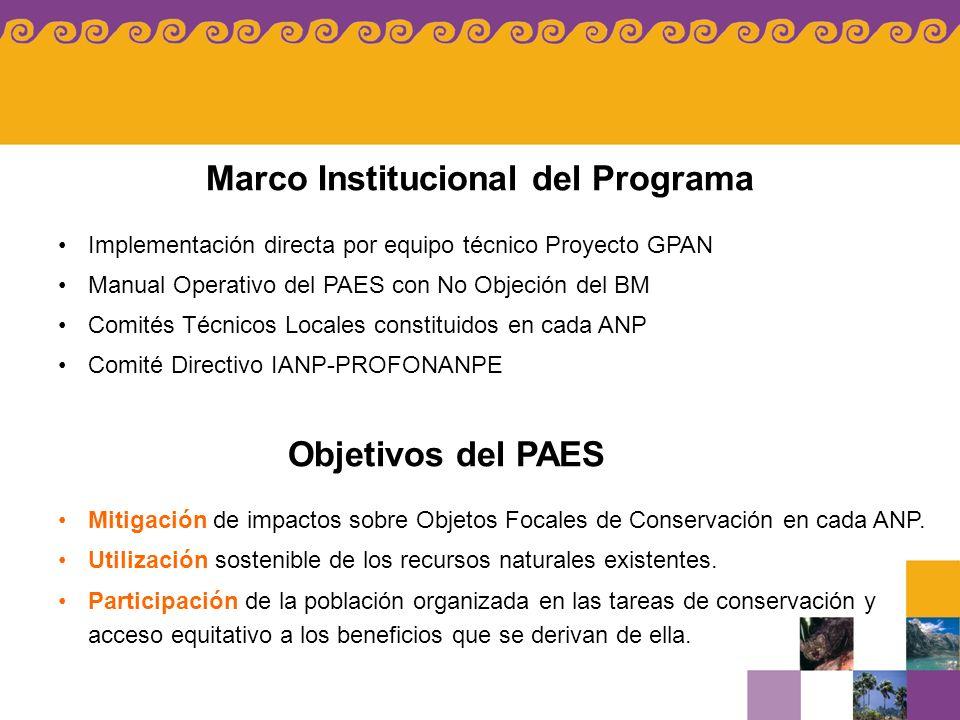 Marco Institucional del Programa
