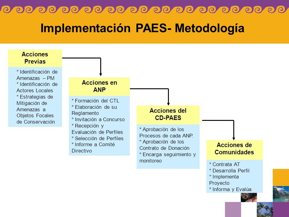 Implementación PAES- Metodología
