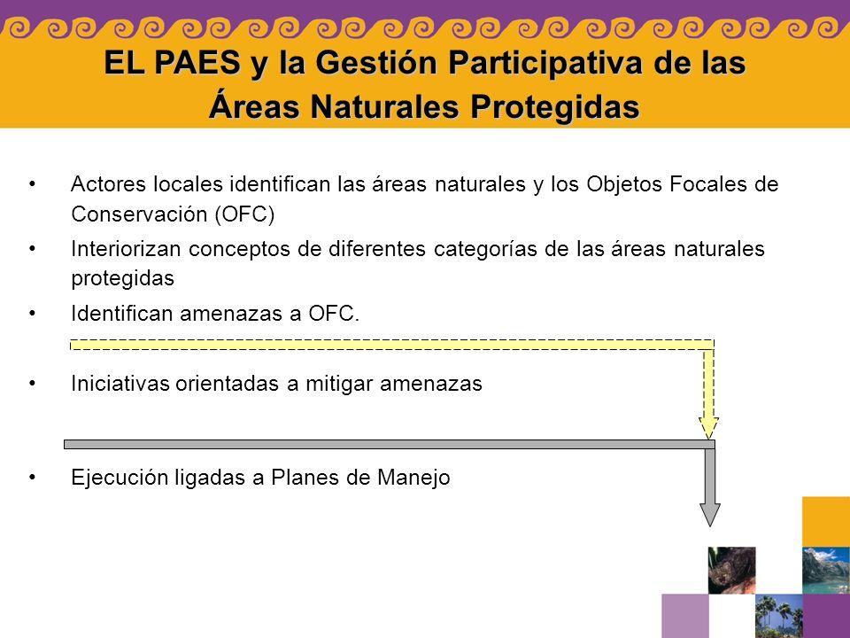 EL PAES y la Gestión Participativa de las Áreas Naturales Protegidas