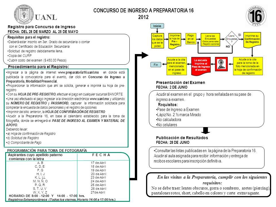 CONCURSO DE INGRESO A PREPARATORIA 16