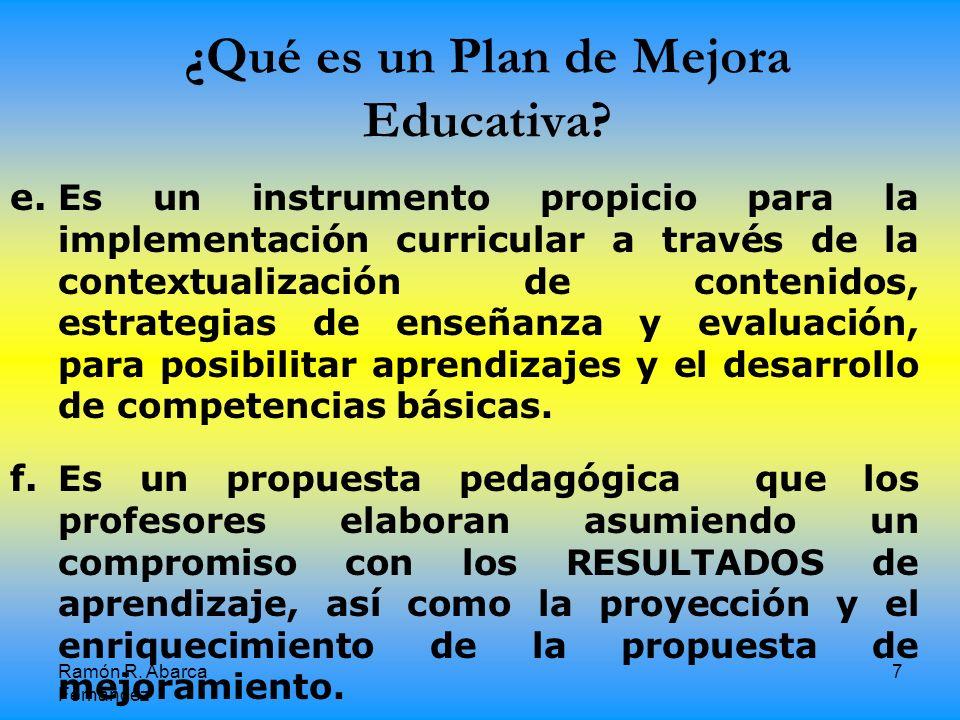 ¿Qué es un Plan de Mejora Educativa