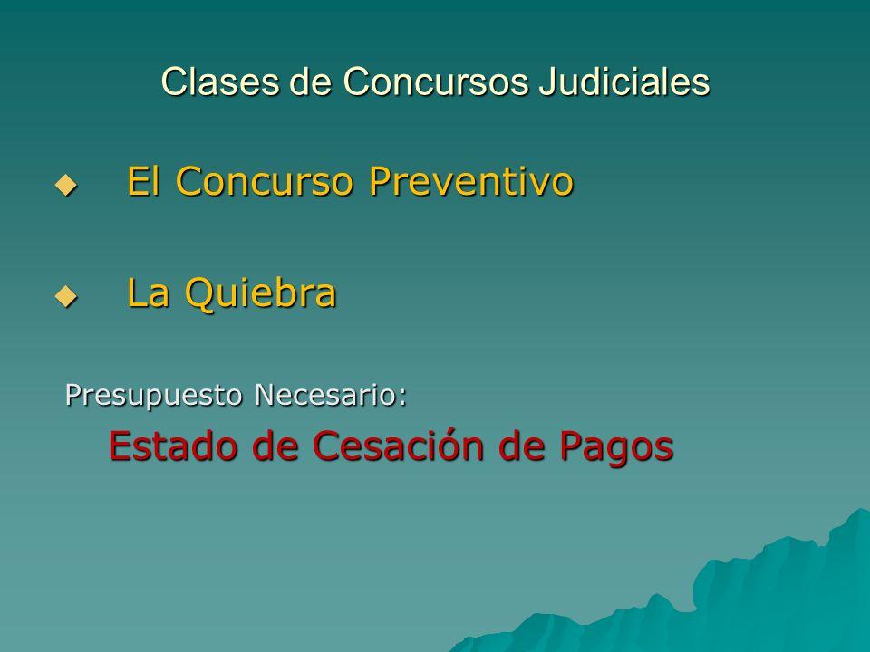 Clases de Concursos Judiciales