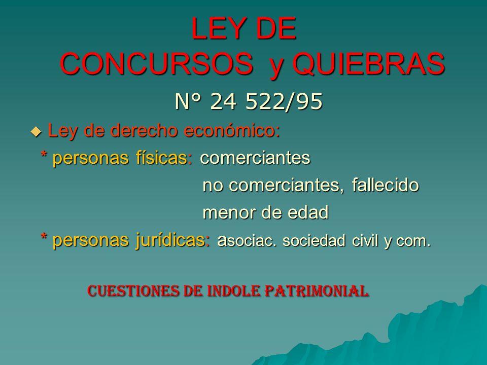 LEY DE CONCURSOS y QUIEBRAS