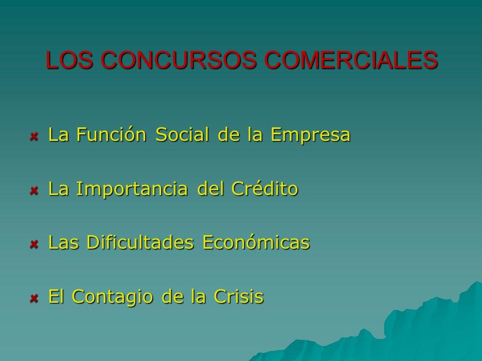 LOS CONCURSOS COMERCIALES