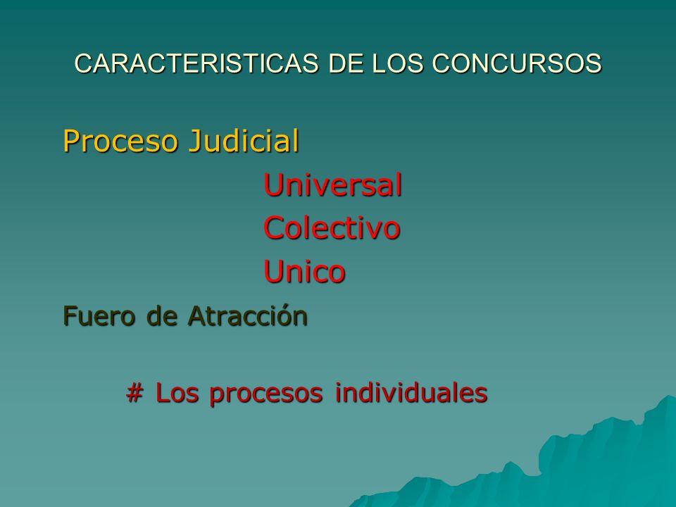 CARACTERISTICAS DE LOS CONCURSOS