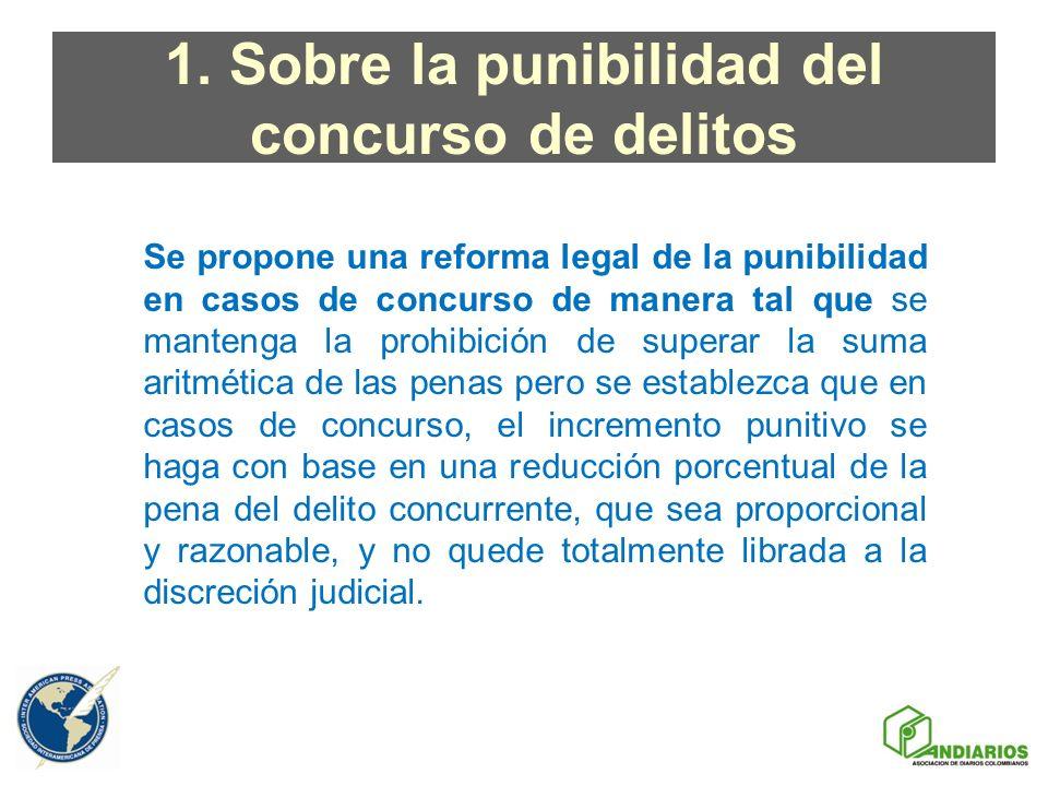 1. Sobre la punibilidad del concurso de delitos