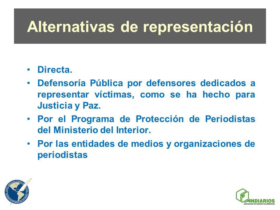 Alternativas de representación