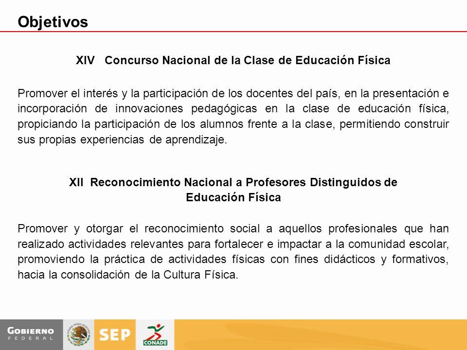 Objetivos XIV Concurso Nacional de la Clase de Educación Física
