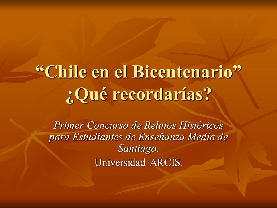 Chile en el Bicentenario ¿Qué recordarías