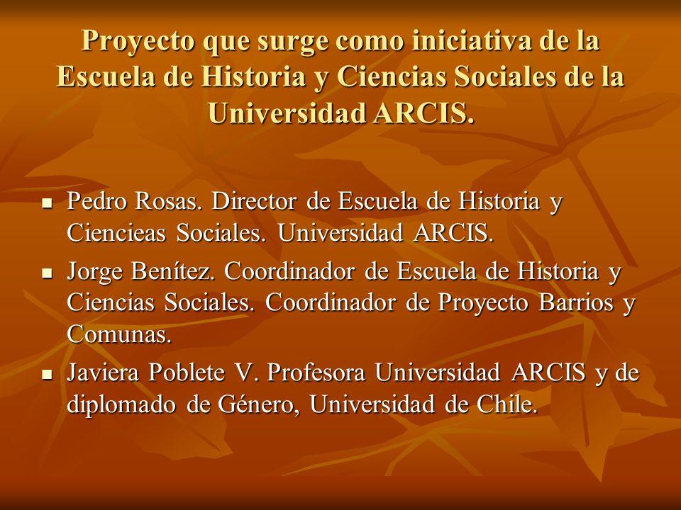 Proyecto que surge como iniciativa de la Escuela de Historia y Ciencias Sociales de la Universidad ARCIS.