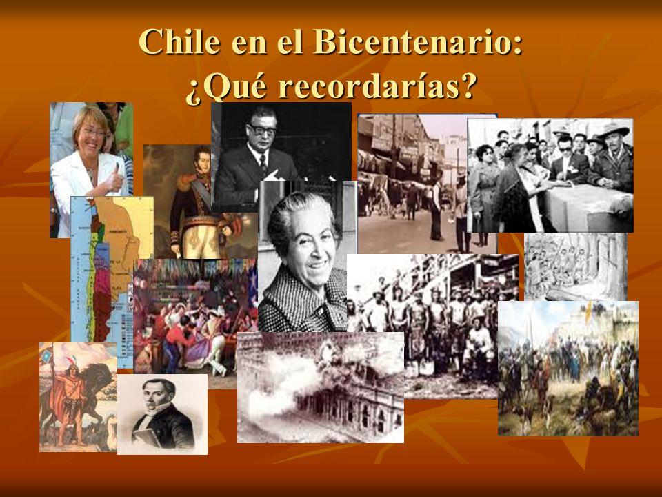 Chile en el Bicentenario: ¿Qué recordarías